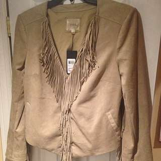 Brown-Stone-Colour Guess Jacket