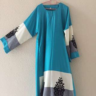 Satin long dress A cut (size 54)
