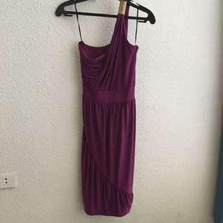 Venus Style Purple Cocktail Dress