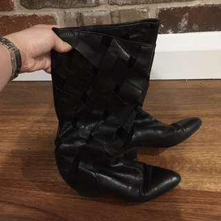 Vero Cudio Leather Boots (used)
