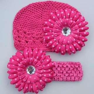 Crochet Beanie And Headband