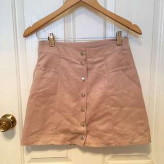 Suede Look Pink H&M Skirt Size 10