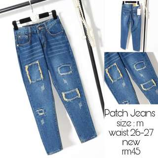 PATCH JEANS M SIZE