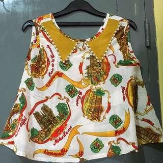 blouse tanpa lengan cantik