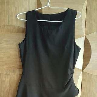 Asymmetrical Black Dress