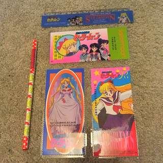 Sailormoon Cards, Ruler & Pencil