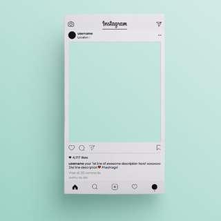 Instagram Photobooth Prop Frame