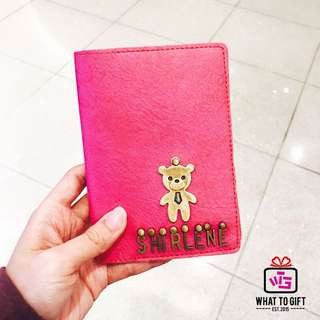 Letter Charm Name Passport Cover
