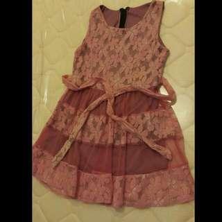 Lace-y Pink Dress