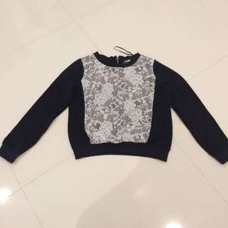 Black And White Lace Jumper