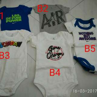 8a5a5703982 Jordan Jumpman nike swoosh infant newborn baby girl boy onesie romper 0 1 2  3 4