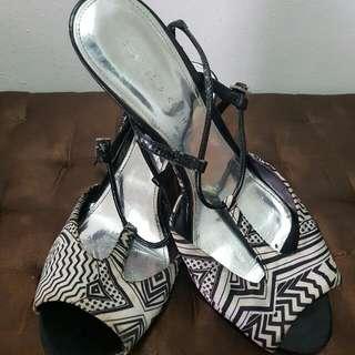 Black & White Charles & Keith Heels