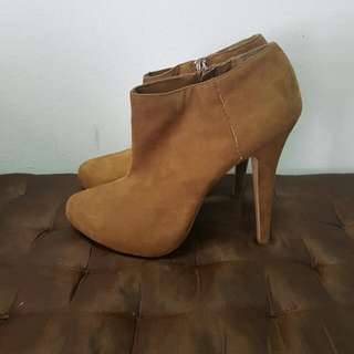 New Look Camel Brown Ankle Boots
