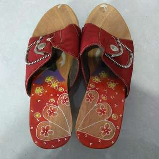 Sandal Wedges Heels Etnik Bali Ukuran 36
