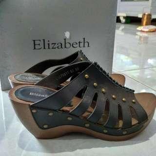 Wedges Sepatu Sandal Heel Elizabeth No.37