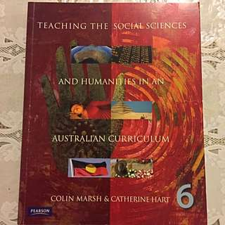 Teaching The Social Studies &Humanities In An Australian curriculum