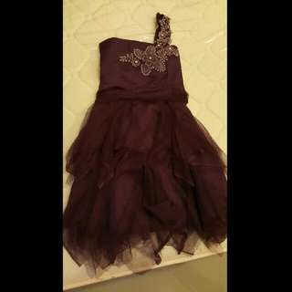 Purple Cocktail Dress (with 1 Strap Only)- Graduation OOTD