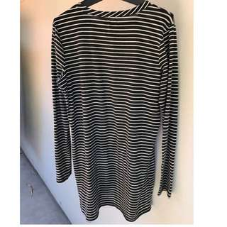 Size M (10 Or Small 12) Stripy Dress