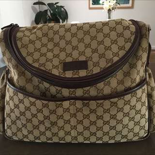 Authentic Gucci Nappy Diaper Bag GG Baby Bag