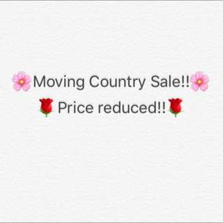 Moving Country Sale!!