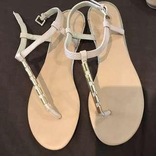 Aldo Cream Sandals