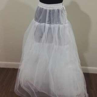 Four Tier Gauze Petticoat For Gown / Dress