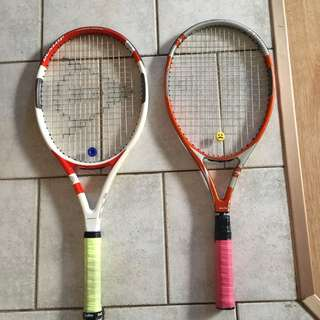 2 Quality tennis racquets with Bags DUNLOP