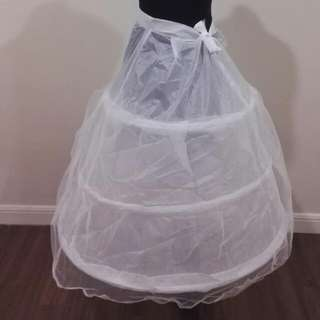 Three Tier Boned Petticoat For Gown / Dress