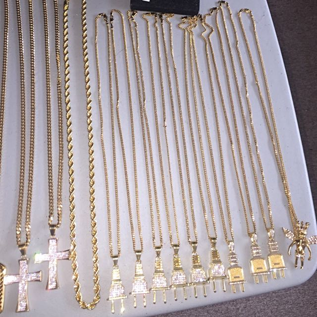 18k Gold Plated Chains And Pendants