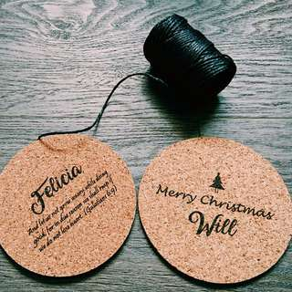 *CHRISTMAS SPECIAL*Customised Coaster (Laser Engraved)