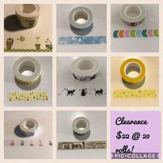 Clearance Of Washi Tape