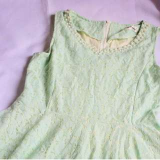 Dainty Mint Green Dress