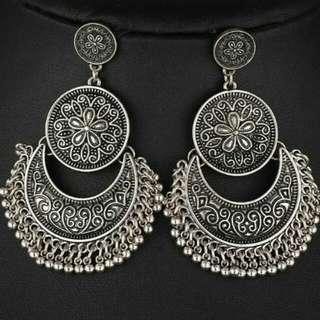 Oxidized Chandbali Earings