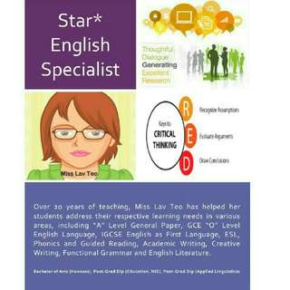 English Specialist - O Level Tuition