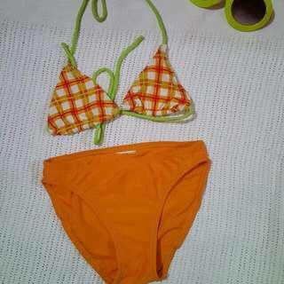 Orange Stripe Swimsuit
