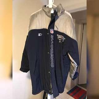 Vintage Starter Jacket Dallas Cowboys NFL Jacket Men's Large Football