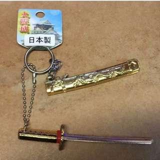 日本製 收藏用 模型刀(金色) 購於大阪城