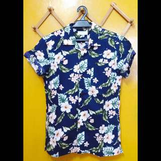 Uniqlo Floral S/Sleeve Shirt