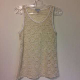 Cotton On Cream Lace Top