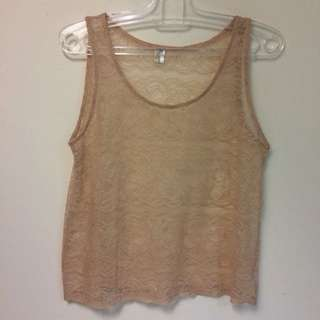 Gaudi Brown Lace Top