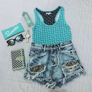Mint Blue Green Sleeveless