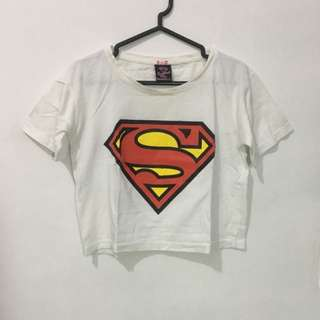 Kaos Crop Top Superman