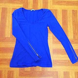Royal Blue Long-sleeved Top