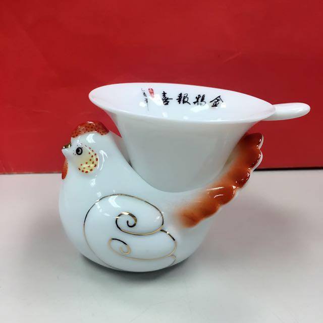 金雞泡茶造型組