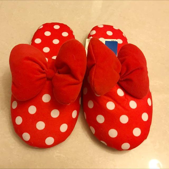 迪士尼米妮室內拖鞋