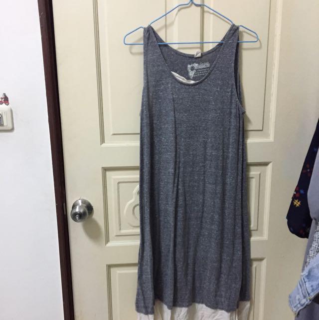 日本購入灰色長洋裝