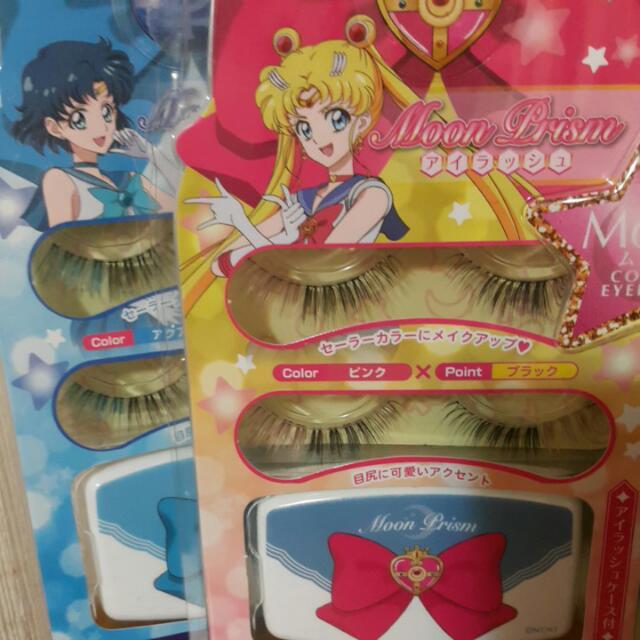 日本帶回 美少女戰士 2pairs雙色假睫毛 附收納盒