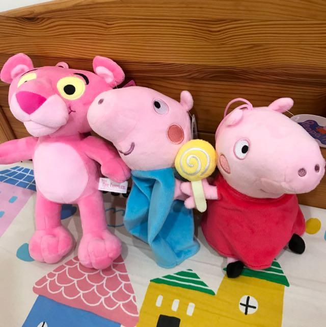 佩佩豬/頑皮豹 娃娃 玩偶