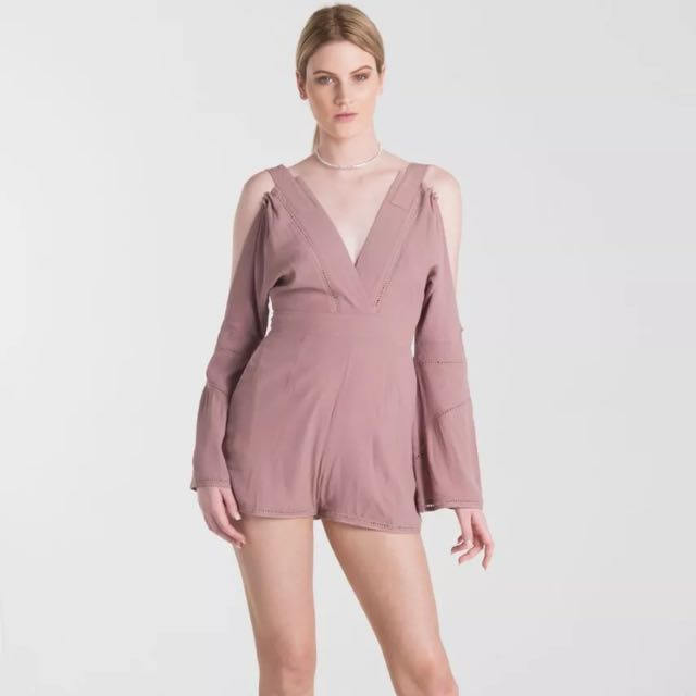 🎀 Harper And Bloom Donna Mauve Playsuit Size 8 Small