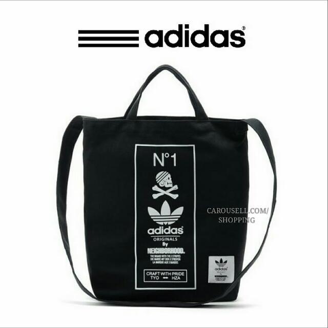 e4558ea5e121 (INSTOCKS) Adidas Originals x Neighbourhood Canvas Crossbody Tote Bag!